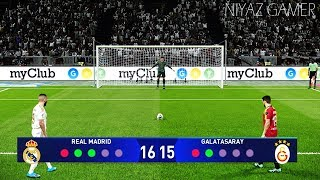 PES 2020 | REAL MADRID vs GALATASARAY | Penalty Shootout | UEFA Champions League | Gameplay PC