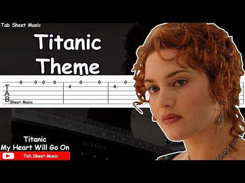 Titanic Theme - My Heart Will Go On Guitar Tutorial