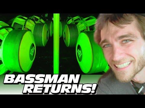 BASSMAN GOT LOUDER on 36,000 watts! CRAZY Hair Tricks & Woofer Porn w/ VERY LOUD Subwoofer BASS