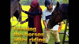 Yuni Arifin Ilham (Istri Ust. Arifin Ilham) Horseback riding, Horse riding