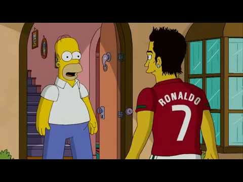 Cristiano Ronaldo on the Simpsons HD