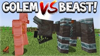 Minecraft 1.14 Update - Pillager Beast Vs Iron Golem - Everything You Need To Know
