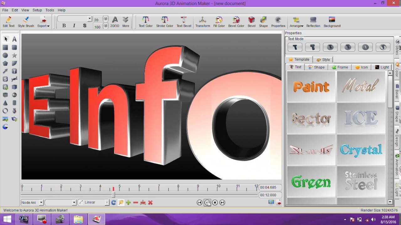 Animated logo design software