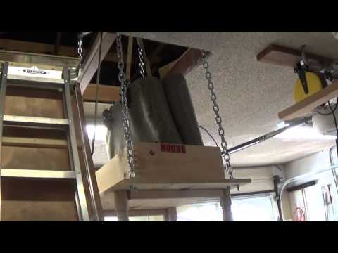 Attic lift how i made it how to save money and do it for Attic storage bow