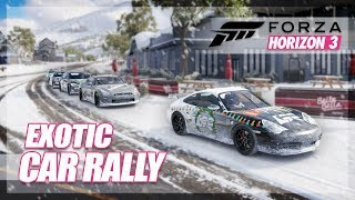 Forza Horizon 3 - Exotic Car Cruise in the Snow! (Ultra Blizzard Rally)