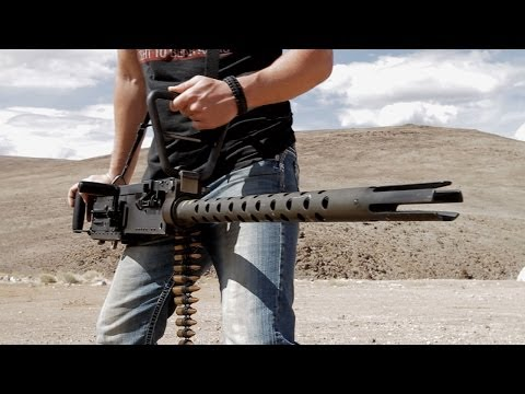 Handheld M2 .50 Cal Machine Gun