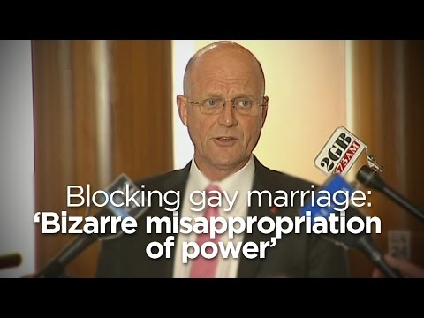 Legalising Gay Marriage 'about Doing What Is Right': Senator video