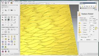 How to create texture relief in Artcam