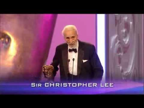 Sir Christopher Lee BAFTA 2011 Fellowship Award