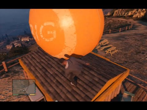 GTA 5 Funny Ball Easter Egg: Giant Ball Rolling Off Mountain!