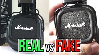 Fake vs Real Marshall Major 2 Bluetooth Headphones - Here's how to spot a Replica!