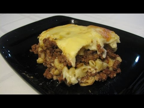 Pastitsio -- Lynn's Recipes Greek Meat and Pasta Casserole