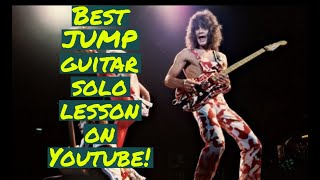 Van Halen - Best Jump Guitar Solo Lesson  On Youtube