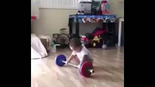 Crazy baby workout scream...