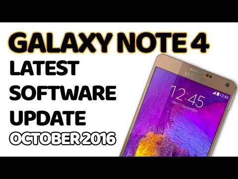 Galaxy NOTE 4 latest  software update - October 2016