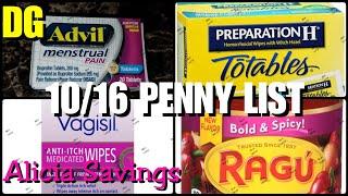 10/ 16 PENNY LIST! Dollar General Visual Penny List
