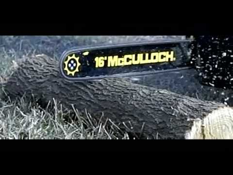 McCulloch Chainsaw Slow Motion Demonstration
