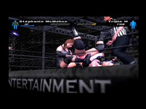 Stephanie McMahon vs Triple H - Hell in a Cell (SMACKDOWN Difficulty) - WWE SmackDown! HCTP (PS2) thumbnail
