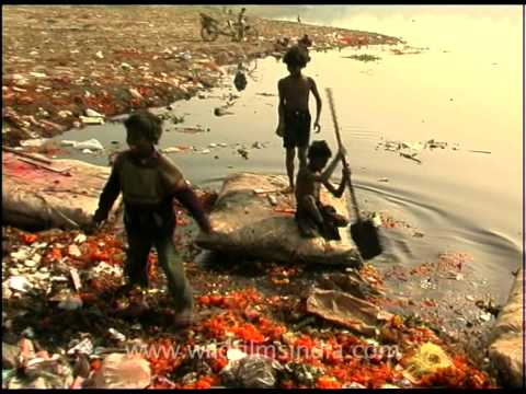 Delhi's slumdog ragpickers near Yamuna river bank