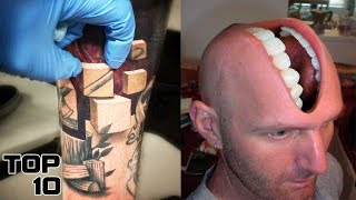 Top 10 Craziest Tattoos That Look Too Real