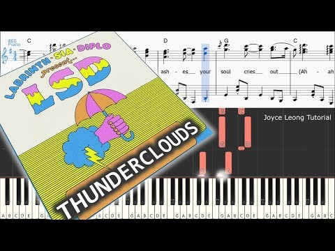 Download Lagu  LSD - Thunderclouds ft. Sia, Diplo, Labrinth - Tutorial & Sheets Mp3 Free