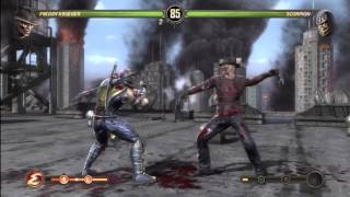 Mortal Kombat 9 - Freddy Krueger VS Scorpion (+ Freddy