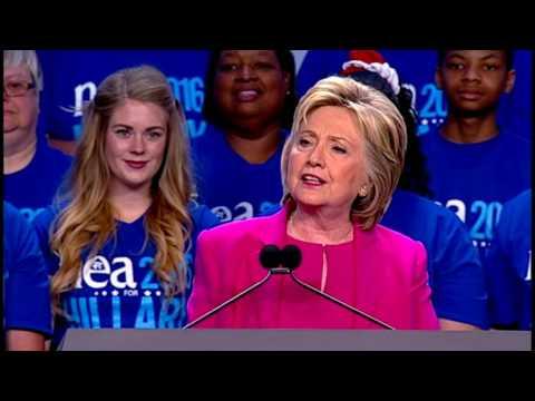 Hillary Rodham Clinton speech at  2016 NEA Representative Assembly