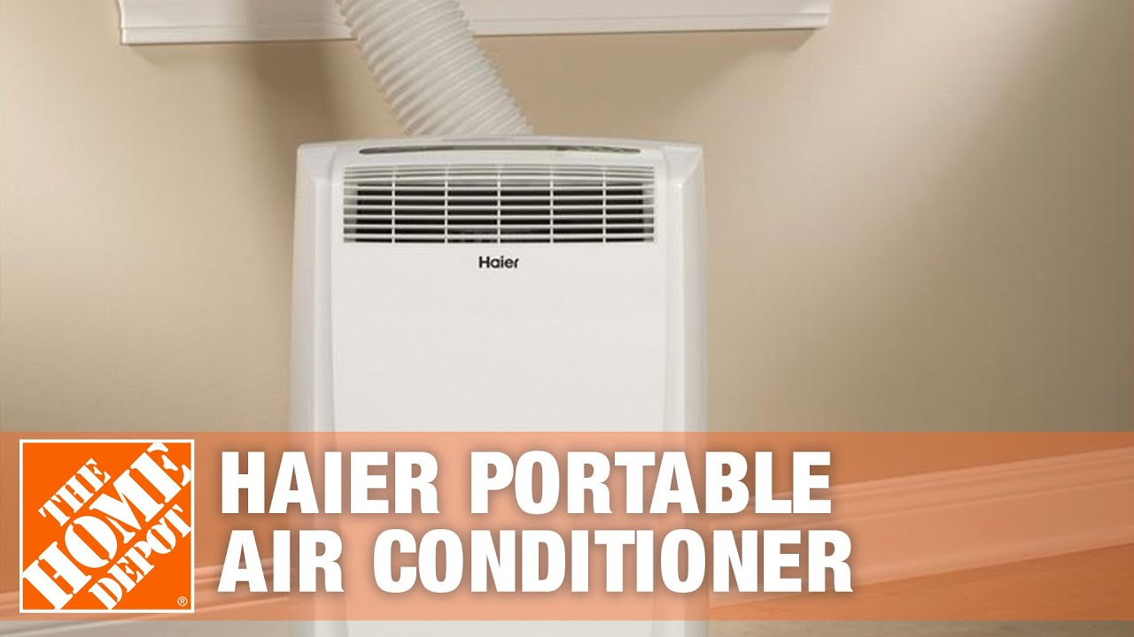 Haier 10 000 BTU Portable Air Conditioner The Home Depot   #190EBD