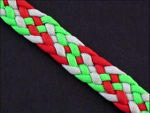 How to Make a 6-Strand [Double Helix] Flat Braid Bracelet by TIAT