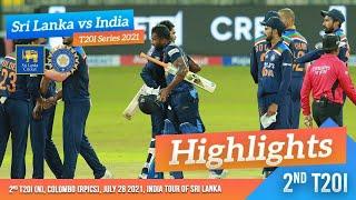 Sri Lanka seal last-over win to level series | 2nd T20I Highlights | Sri Lanka vs India 2021