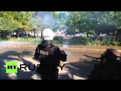 Students clash with police during protest in Turkey