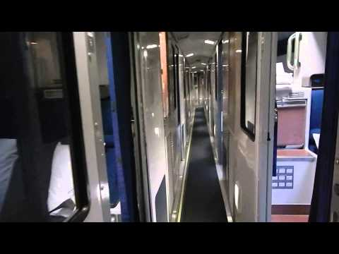 Tour of Amtrak Viewliner sleeping car with Accessible Bedroom. Bedroom. and Roommettes