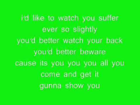 rachel stevens so good lyrics on screen