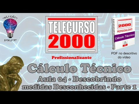 Telecurso 2000   Calculo Tecnico   04 Descobrindo medidas desconhecidas I