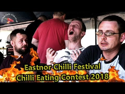 Chilli Eating Contest Eastnor Castle Chile Festival May 2018