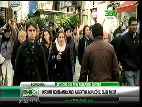 360 TV - [Economía] Informe norteamericano: Argentina duplicó su clase media