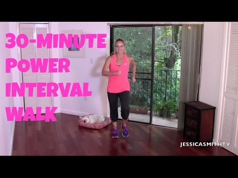 Walking, Exercise For Beginners  Free Full Length 30 Minute Power Interval Walk