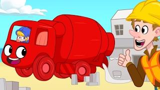 Cement Mixer Morphle Builds Houses! Construction  videos for kids