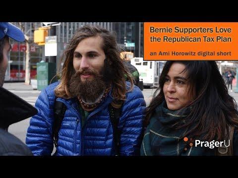 Bernie Supporters Love the Republican Tax Plan