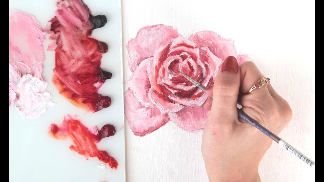 How i paint roses with oil youtube for How to paint a rose watercolor