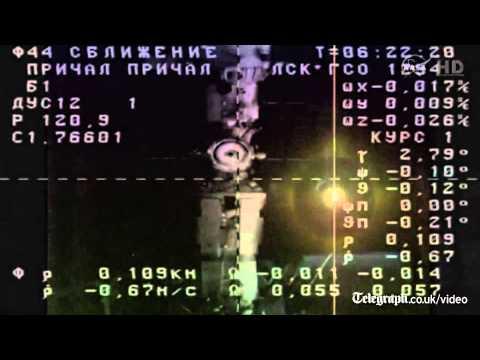 Russian cargo ship docks at International Space Station