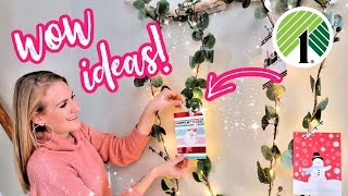 DOLLAR STORE IDEAS! 💚 Organize & display ALL those Christmas Cards... fast and EASY!