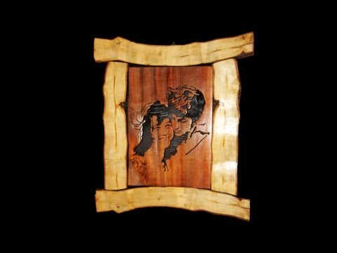 Rustic Scroll Saw Portrait - Woodworking
