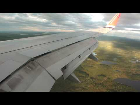 Norwegian Boeing 737-800 Landing Kiruna, Lappland