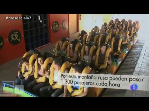 España a Ras de Cielo visita PortAventura