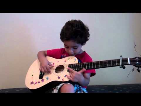 Joshua playing guitar, he is 2 and half years old. Music Videos