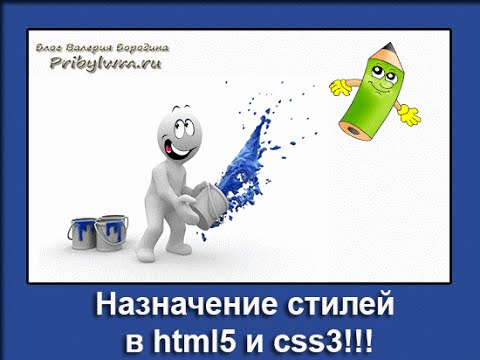 Назначение  стилей в html5 и css3 (Урок 2)