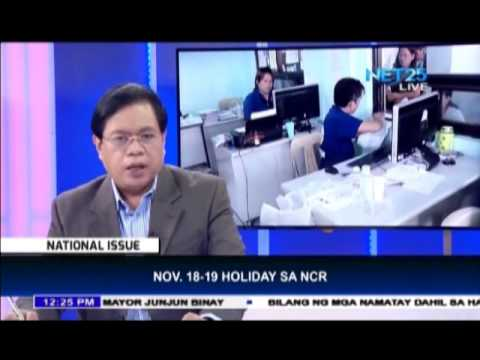 Nov 18-19, special non-working holiday in NCR