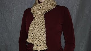 How to knit a scarf - a cell pattern women