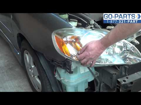 Replace 2003-2008 Toyota Corolla Headlight / Bulb. How to Change Install 2004 2005 2006 2007
